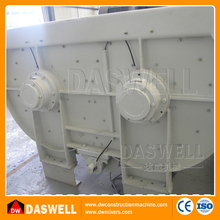 Electric motor large capacity stationary twin shaft concrete mixer price in india