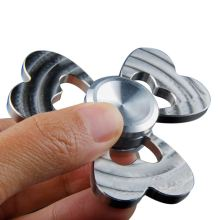 2017 New Clover Stainless Steel Fidget Spinner Hand Finger Spinner Silver Metal Tri Spinner 5 minutes EDC Relieve Stress SL124