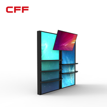 LED LCD tile free standing product display racks panels
