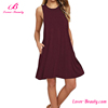 High Quality Red Sleeveless Sexy Mini Women Clothing Casual Dress