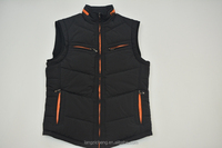 High quality Casual Warm Cotton Padded mens vest jacket