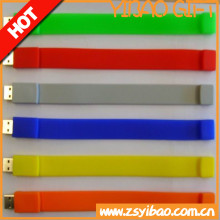 Eco- friendly silicon bracelet usb flash drive,cheap usb wristband