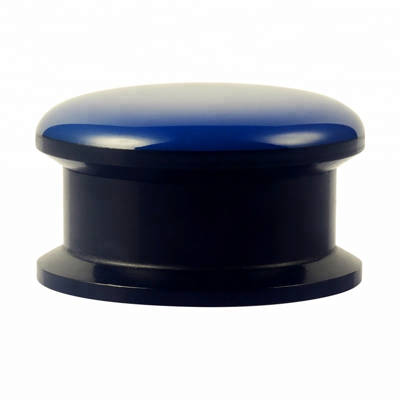 New body jewelry custom epoxy black acrylic gauge ear plugs