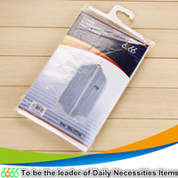 Clear plastic zipper garment bag/garment plastic bag/plastic dry cleaning bags