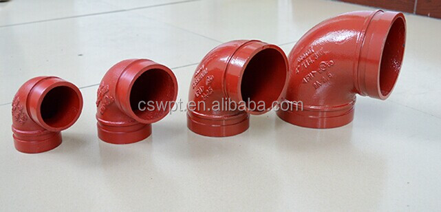 cast elbow 90 degree elbow epoxy coated ductile iron pipe <strong>fitting</strong> FM UL