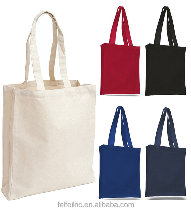 cheap cotton/canvas blank tote wholesale shopping bags
