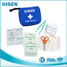Logo customized promotional gifts medical supplies / compact first aid kit filled with useful items