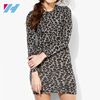 YIHAO FALL Fashion Ladies Western Dress Designs Floral Crochet Dress Long sleeve Bodycon Mini Dress