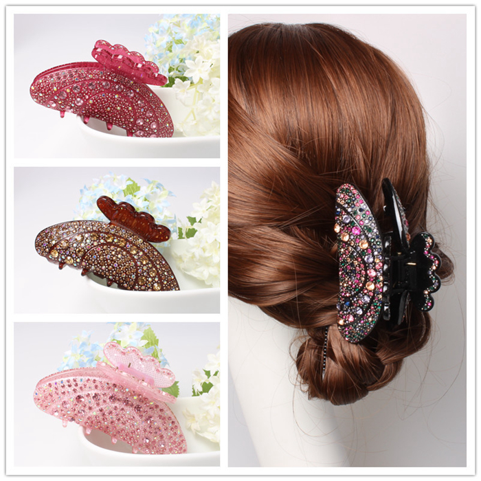 Full luxury rhinestone Sparkling korean decorative hair claw clip