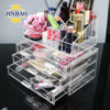 JINBAO good grade beauty product line clear acrylic makeup brushes display stand organizer