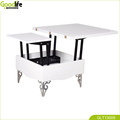 Multi-functional wooden dining table,white