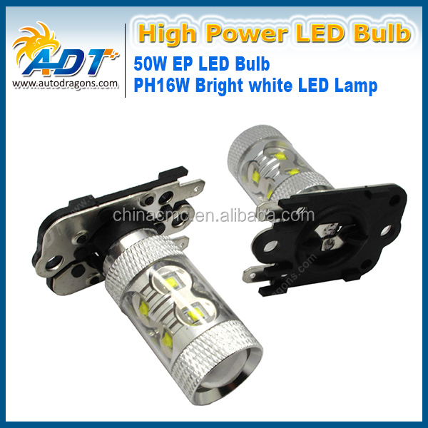 High Power white 50W PH16W LED Bulbs For Audi VOLVO, etc Front Turn Signal Lights, Reverse Lights,DRL