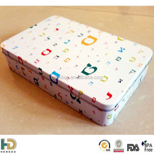 Gift biscuit tin box for Book cookies