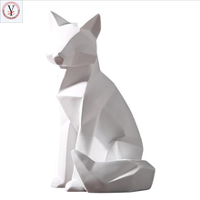 Custom made indoor decprative animal fox resin fox statue for decoration