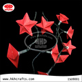 handmade christmas decorative battery operate red color star garland