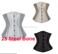 Walson wholesale ladies women underwear 28 Steel Bones Waist Trainer Twill Cotton Underbust Corset