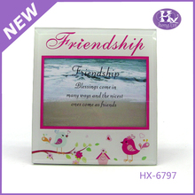 HX-6797 4x6 Inches friendship Pink Glass Photo Frame