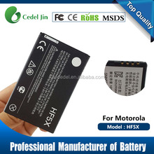 China manufacturing dry battery HF5X gb t18287 battery for Motorola XT760