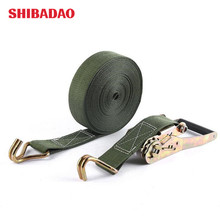 Heavy-duty tight receiver type 50 military supply car stopper cargo strap ratchet buckle strap