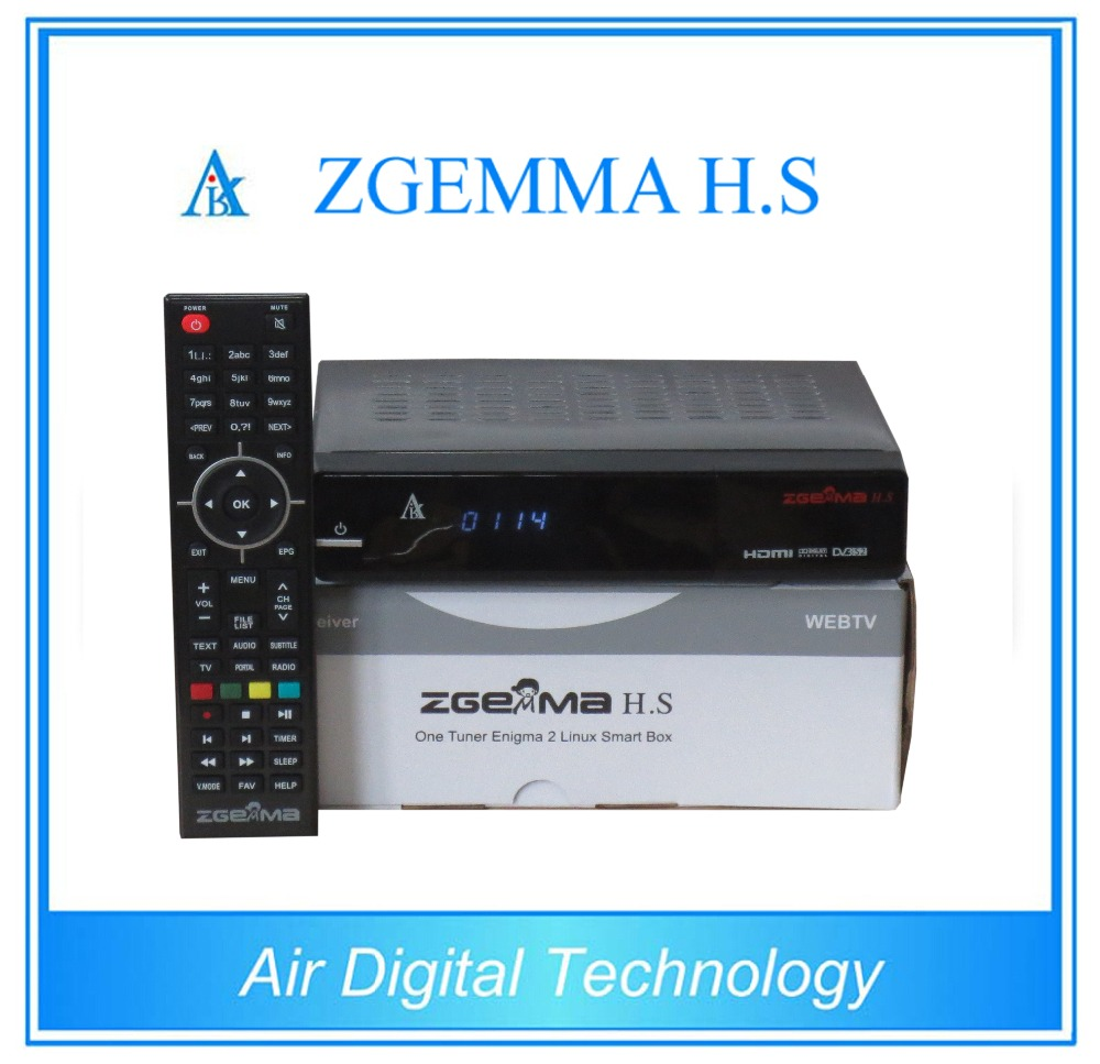FTA TV Decoder ZGEMMA H.S With Dual Core Linux OS Enigma2 DVB-S2 PVR tuner Supported IPTV Box