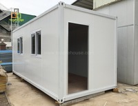 Two-storey flat roof movable containerized house for prefabricated economic wall system room unit