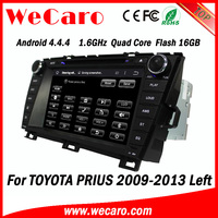 Wecaro Android 4.4.4 car stereo double din navigation for toyota prius 16GB Flash left hand drive 2009 - 2014