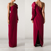 wholesale formal women silk one shoulder evening gown