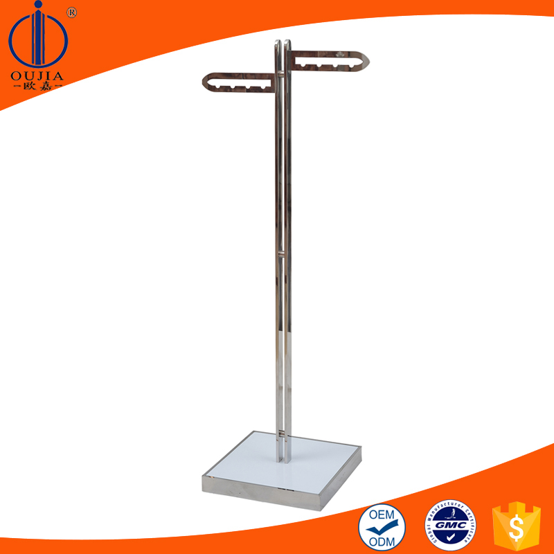 double sides store display stand for clothing store, t shirt display stands