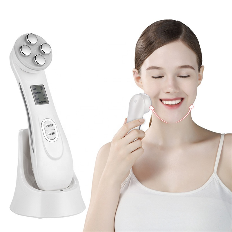 Facial Skin EMS Mesoporation RF Radio Frequency Facial LED Photon Skin Care Device Face Lifting Tighten Beauty Machine