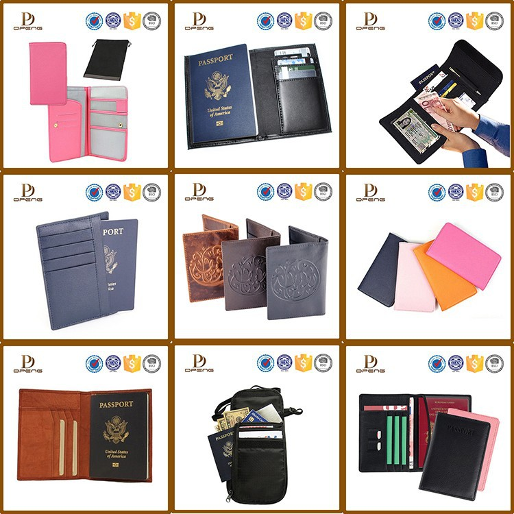 Europe best selling leather custom passport holder travel passport holder