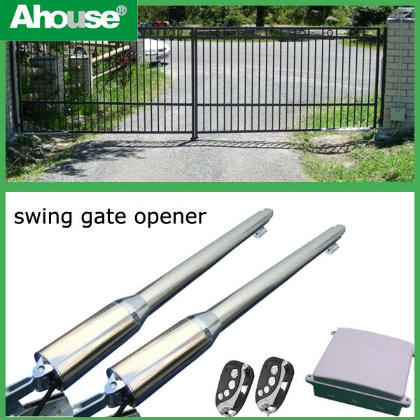 Ahouse solar double automatic gate openers / solar double swing gate openers /auto gate opener remote control CE