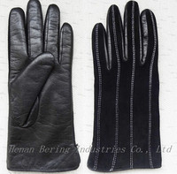 Plain Type Daily Life Usage Ladies Suede Leather Gloves