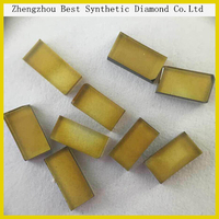 Price of 1 carat Bright color synthetic rough yellow flake shape diamond best selling in india