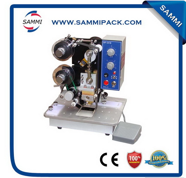 Low cost ribbon printing machine for date of manufacture
