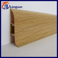 Plastic skirting protective wall base board