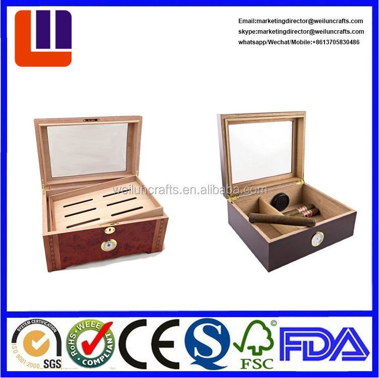 Wood Humidor Wooden Packing Box For Cigar
