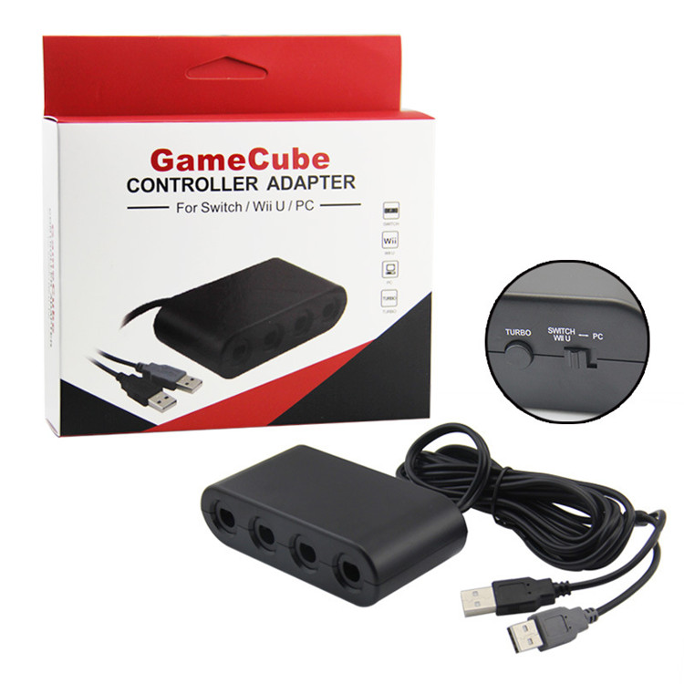 SYYTECH For Wii U Adapter 4 Port for Game cube Adapter for NGC Controller Adapter For Nintendo Switch