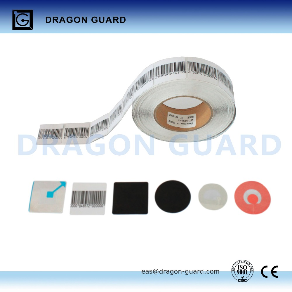 Radio frequency clothes shop Anti Theft barcode garment labels (CE/ISO)