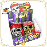 Halloween decoration pirate plastic skull face mask