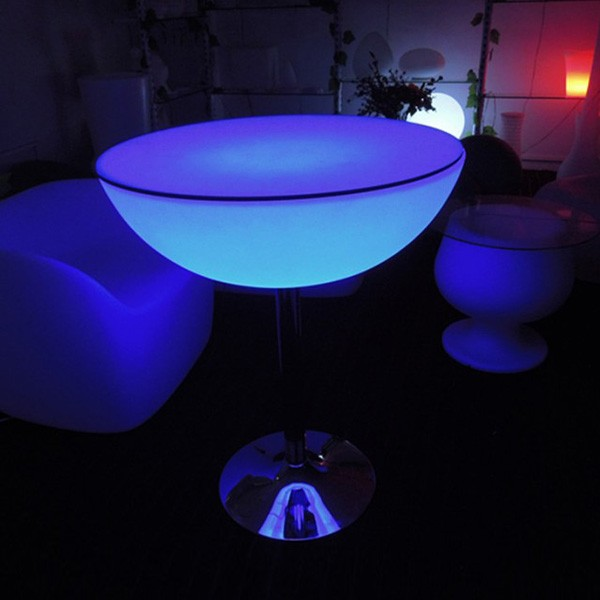 2016 New product 60*H93 cm led tables and chairs/latest home table designs/hot led funiture/ led coofee table made in china