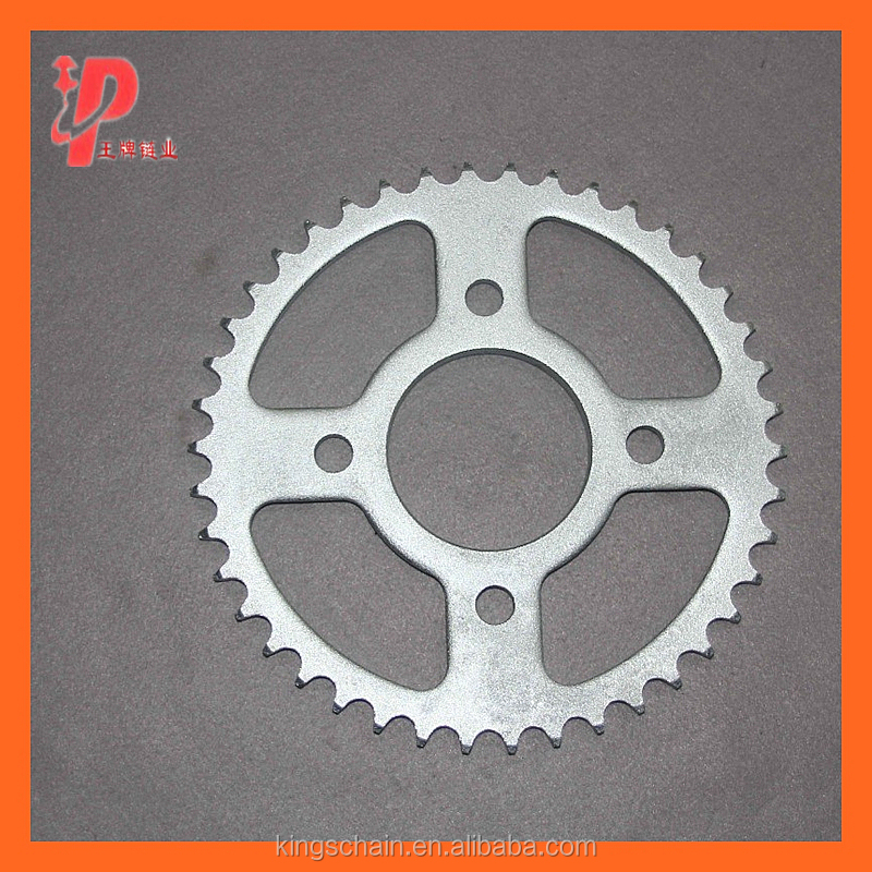 428H white 1045 GN125 motorcycle chain sprocket kit