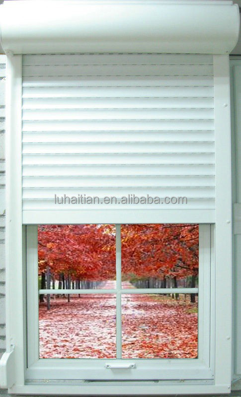 Aluminum electric roller blinds / aluminum manual roller shutters with sound-insulation and noise-reducing