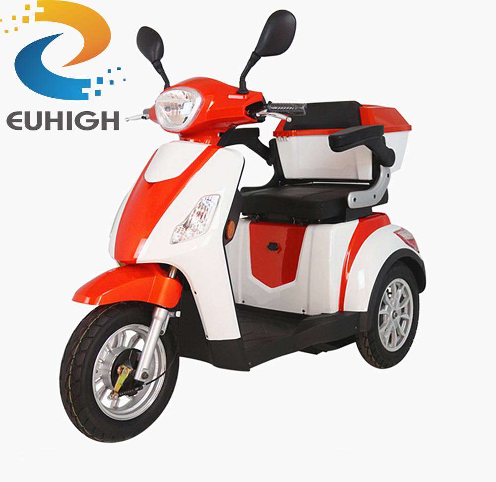 2018 popular new-style 3 wheel electric scooter motorcycle with two seats