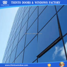 Excellent tempered glass commercial luxury aluminium curtain wall