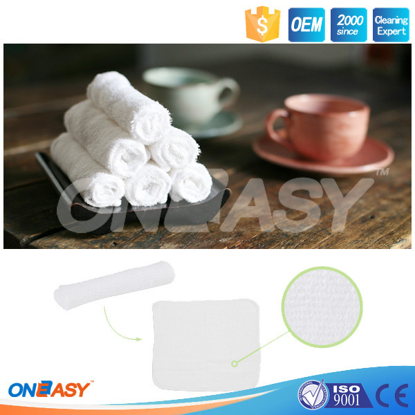 China manufacturer 100% cotton moist towel fresh wet towel