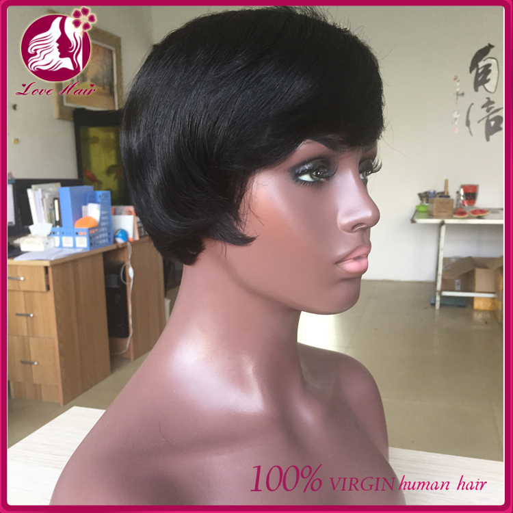 free shipping cosplay wig virgin european 6inch bob lace wig machine men wig