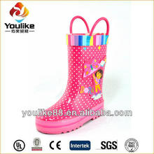 YL7194 Girls Fashion Sex Wellies Rain Boots