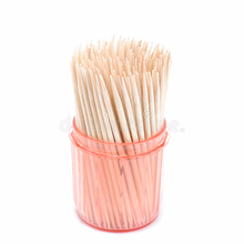 personal bamboo charcoal dental floss 300pcs/jar customized packing wooden toothpicks