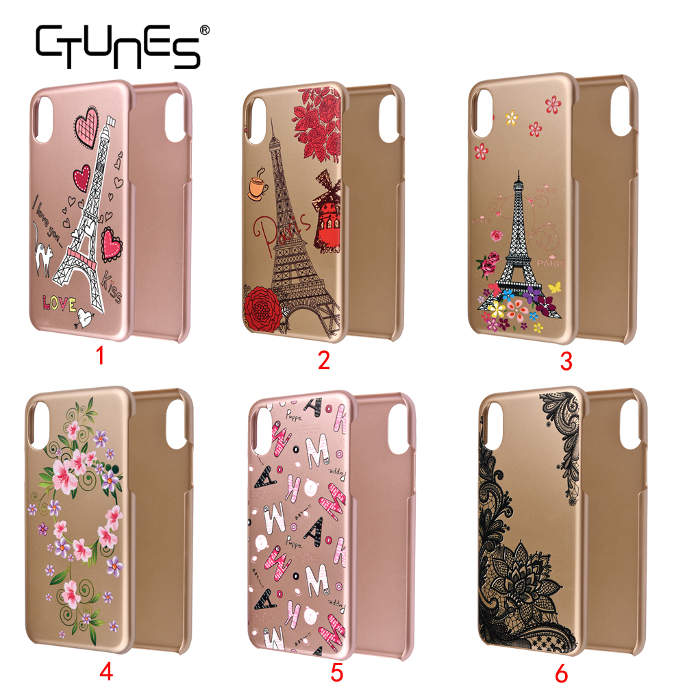 C&T Ultra-Thin Rose Gold Elephant Printing Snap-on Hard Cover Protective Case For iPhone10