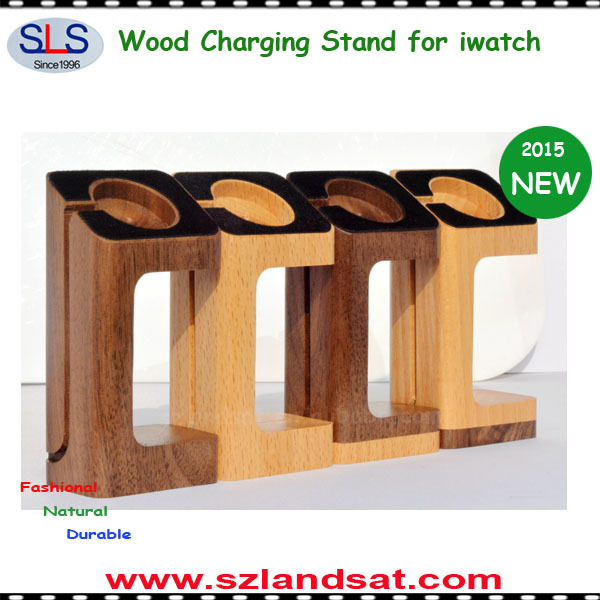 2015 NEW ARRIVAL bamboo charging stand for apple watch BS800